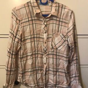 Pick and gray flannel